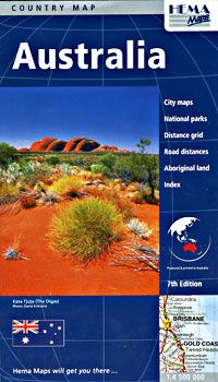 Australia Travel Map by Hema