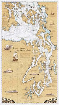 Puget Sound Chart Amp San Juan Islands Chart Puget Sound Maps