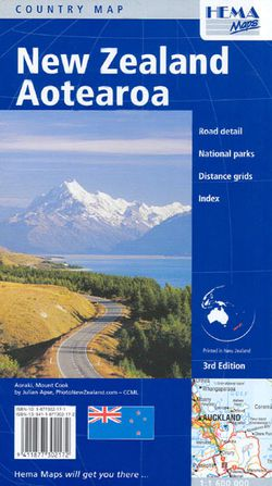 New Zealand Travel Map by Hema