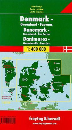 Denmark - Greenland - Faroe Island Travel Map