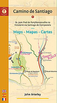 Camino Walk Spain Map.Camino De Santiago Map The Camino De Santiago Walking Map