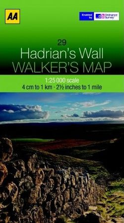 Hadrian's Wall Walking Map