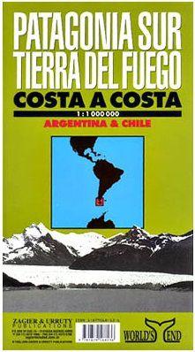 Patagonia South/Tierra del Fuego Map by Zagier Urruty