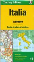 Italy Travel Map by Touring Club of Italy