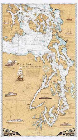 Puget Sound & San Juan Islands Chart by Sobay