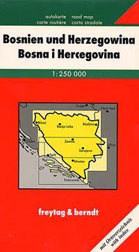 Bosnia Herzegovina Travel Map