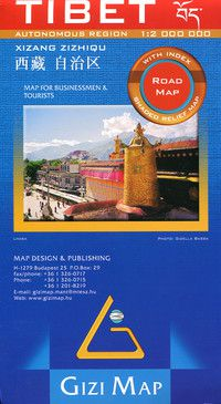 Tibet Travel Map by Gizi