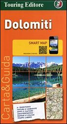 Dolomites Travel Map by Touring Club of Italy