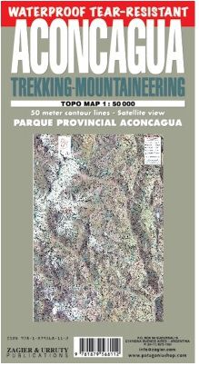 Aconcagua Trekking - Mountaineering Map by Zagier & Urruty