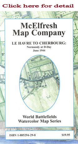 Normandy D Day Map Le Havre To Cherbourg
