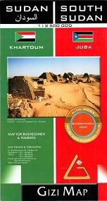 Sudan & South Sudan Travel Map by Gizi