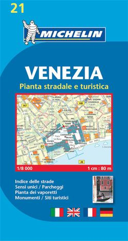 Venice Street Map by Michelin