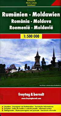 Romania/Moldova Travel Map by Freytag & Berndt