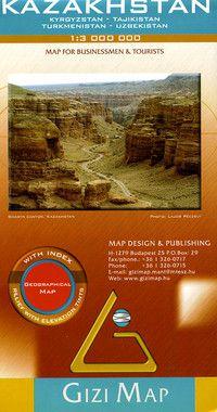 Kazakhstan & area Travel Map by Gizi