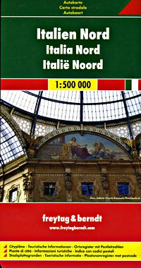 Italy - North Travel Map by Freytag & Berndt