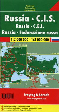 Russia & C.I.S. Travel Map by Freytag & Berndt