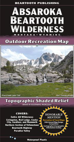 Absaroka Beartooth Mountains Wilderness Map by Beartooth Publishing