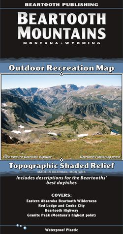 Beartooth Mountains Recreation Map by Beartooth Publishing