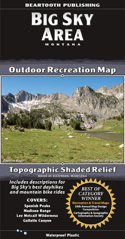 Big Sky Area Recreation Map by Beartooth Publishing