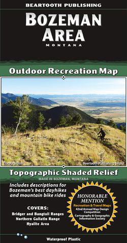 Bozeman Area Recreation Map by Beartooth Publishing