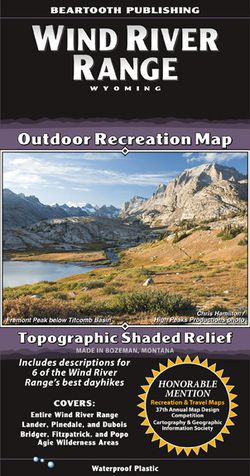 Wind River Range Hiking Map by Beartooth Publishing