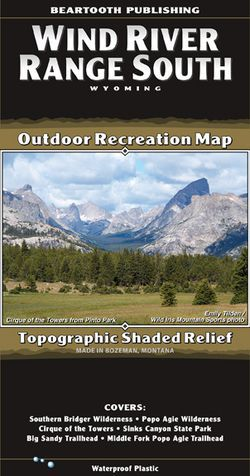 Wind River Range South Map by Beartooth Publishing