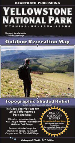 Yellowstone Hiking Map by Beartooth Publishing