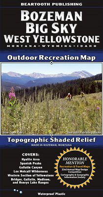Bozeman Big Sky Recreation Map by Beartooth Publishing