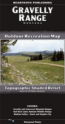 Gravelly Range Recreation Map by Beartooth Publishing