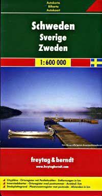 Sweden Travel Map by Freytag & Berndt