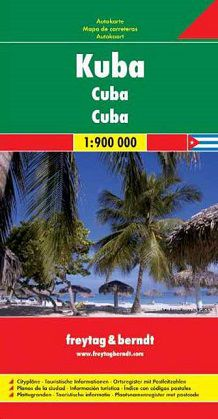 Cuba Travel Map by Freytag & Berndt