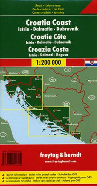 Croatia Coast Travel Map by Freytag & Berndt