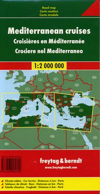 Mediterranean Cruises Travel Map by Freytag & Berndt