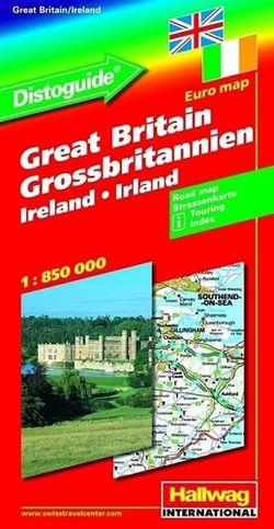 Great Britain & Ireland Distoguide Map