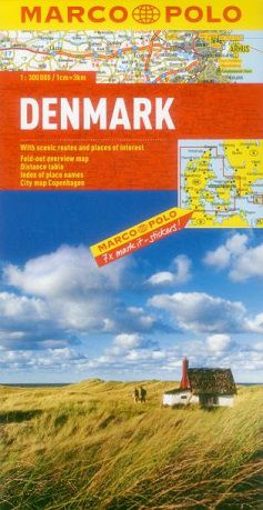 Denmark Travel Map by Marco Polo