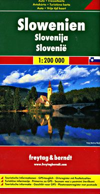 Slovenia Travel Map by Freytag & Berndt