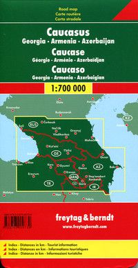 Caucasus Travel Map by Freytag & Berndt