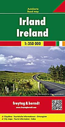 Ireland Travel Map by Freytag & Berndt