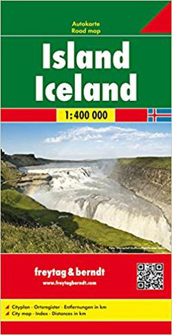 Iceland Road Map by Freytag & Berndt