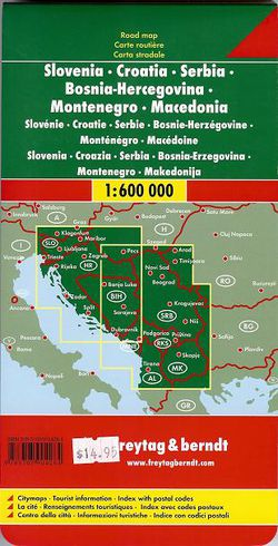 Slovenia, Croatia, Serbia Travel Map - Road Maps of Eastern Europe