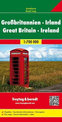 Great Britain Ireland Map by Freytag & Berndt