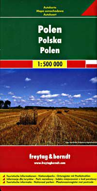 Poland Travel Map by Freytag & Berndt