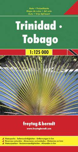 Trinidad & Tobago Travel Map by Freytag & Berndt