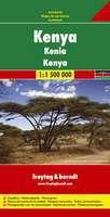 Kenya Travel Map by Freytag & Berndt