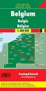 Belgium Travel Map by Freytag & Berndt