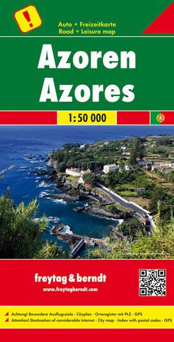 The Azores Islands Travel Map by Freytag & Berndt