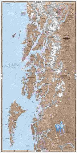 Northwest Coast Wall Map - North half