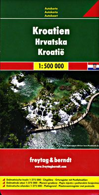 Croatia Travel Map by Freytag & Berndt