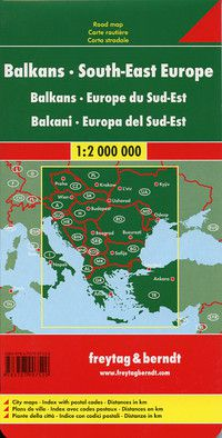 The Balkans (SE Europe) Travel Map by Freytag & Berndt