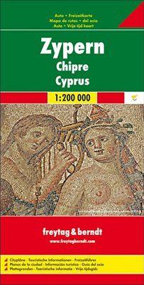 Cyprus Travel Map by Freytag & Berndt